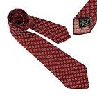 1940s Mens Vintage Tie Towncraft Swing Tie 1930s Necktie Red Floral Jacquard