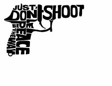 Gun Text Vinyl Decal Sticker USA 2nd Amendment Free Speech Permit Open Carry