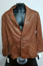 $550 Andrew Marc New York Men's Leather Jacket Size Large 2 Button Jacket NWT