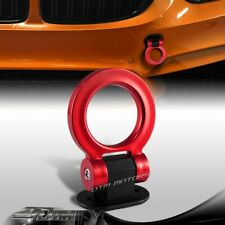 JDM Universal Car SUV Red Ring Track Racing Style Tow Hook Look Decoration ABS