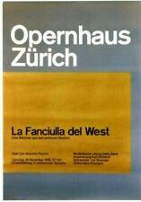 Original vintage poster ZURICH OPERA FANCIULLA DEL WEST 1968