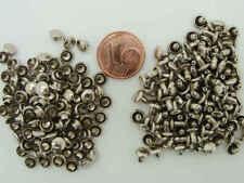 100 rivets double tête 5mm nickelés fixation DIY loisirs créatifs cartonnage