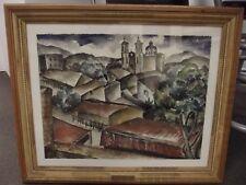 Cincinnati Artist Jessie Roberts Grooms Original Watercolor Framed Well Listed