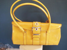 b8a3d3f9563a Rina Rich Leatherette gold multiple pocket handbag