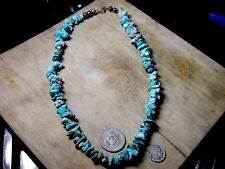 turquoise beads the real thing vintage bisbee,godber natural nugget necklace