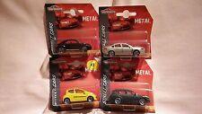 MAJORETTE X4 CARS,PEUGOET 107,VW BEETLE,CITROEN C5,CITROEN CROSSER,ALL MINT.
