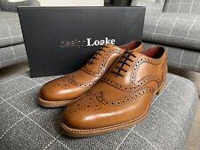 Loake Kerridge Tan Brogue Shoes - Size 9 / 43 - BRAND NEW - Mens Formal