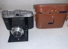 Vintage Camera Folding 6x6 Franka Solida II Ennagon 7.5CM F3.5 Lens
