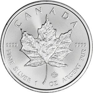 2021 Canada Silver Maple Leaf - 1 oz - $5 - BU