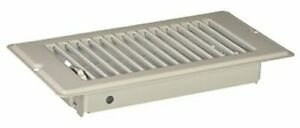 Mobile Home RV Floor Register with 1-5/16 inch 4 in x 8 in x 1-5/16 in White