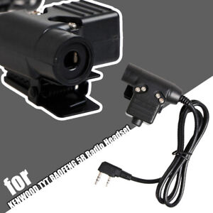 U94 PTT Push To Talk Adapter for KENWOOD TYT BAOFENG Radio Headset Walkie Talkie