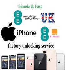 EE UK T-Mobie Orange Unlocking Service Unlock any Apple iPhone and iPad