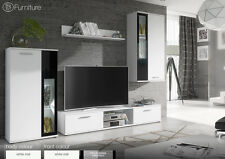 Modern Wall Unit Display Living Room Unit Tv Stand WOW Free P&P Led Lighting New