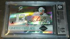 2004 LEAF LIMITED THREADS JERSEY NUMBERS DAN MARINO  BGS 8.5 10 AUTO  10/13