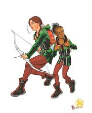 Hunger Games KATNISS & RUE FULL COLOR ORIGINAL ART by Rick Mays iron fist dvd