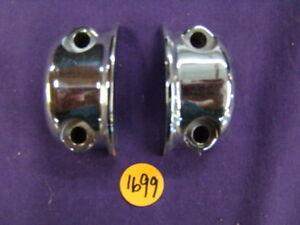 Harley chrome handlebar control clamps Sportster Dyna XL FXR Softail FL ss1699