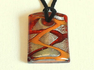 Chunky lamp work pendant necklace
