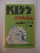"KISS ""REVENGE WORLD TOUR 1992 ORIGINAL LAMINATED BACKSTAGE PASS"