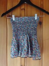 New Blu Moon Tube Flowy Top Size XS Flower Print Rayon Made in USA