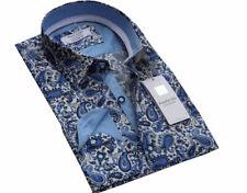 Russell & Giles Men`s Designer Paisley Shirt Size Medium Casual