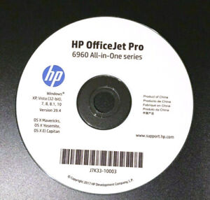 Setup CD ROM for HP OfficeJet Pro 6960 Series Software for Windows and macOS