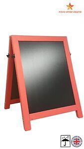 A BOARD - PAVEMENT BOARD - CHALKBOARD - PAVEMENT SIGN -  HEAVY DUTY- 14KG RED