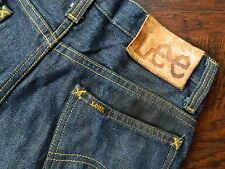 1960's Lee Rider Jeans / Boot Cut / Sanforized / Used / Union Made in USA / 18 R