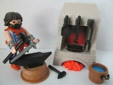 Playmobil Castle/Knight/Palace extras: Blacksmith figure, oven & anvil NEW