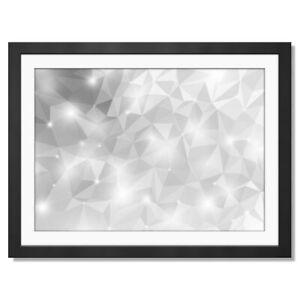 A3  - BW - Abstract Diamond Crystal Fun Framed Print 42X29.7cm #38614