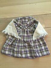 American Girl Kirsten Limited Edition Purple Plaid Dress & Shawl