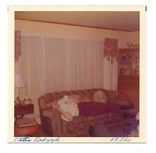 Vintage Photo Handsome Young Man Relaxing On Couch, 1970's, Dec16