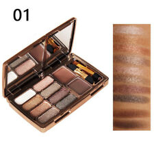 Diamond Shimmer 8 Eyeshadow + Eyebrow Palette Set Waterproof Beauty Make Up no.1