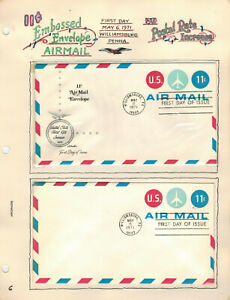 Handpainted Artopages Page FDC UC43 11c JET AIRMAIL Williamsburg PA