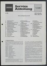 GRUNDIG RPC 650 TP Original HiFi-System Service-Manual/Diagram/Parts List o219