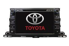 "8"" Bluetooth DVD GPS Touchscreen Navigation Radio 2014 14 Toyota Highlander"