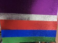 10 X A4 METALLIC LASER PAPER * TEXTURED *.STUNNING * 5 COLOURS * ON OFFER