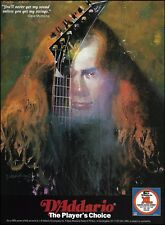 Megadeth Dave Mustaine 1995 D'Addario XL strings on Jackson guitar 8 x 11 ad