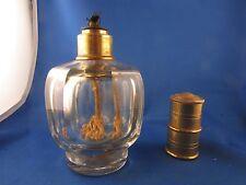 ancien brule parfum lampe berger cristal de baccarat flacon