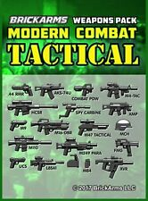 BrickArms Modern Combat TACTICAL Weapon Pack for Lego Minifigures -NEW!-