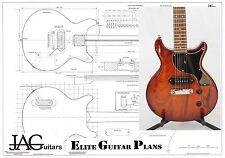 Progetto liutaio piano / disegno per Gibson Les Paul Junior doppio taglio P044