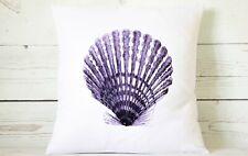 "Indigo coastal Shell - 16"" cushion cover nautical shabby vintage chic (B)"