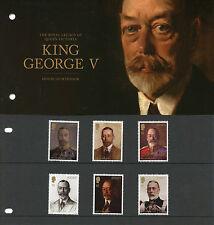 Jersey 2016 estampillada sin montar o nunca montada Rey George V legado Reina Victoria 6v Set Pres Pack sellos