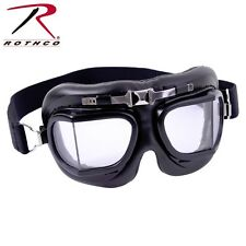 Aviator Motorcycle Style Black Goggles Air Force Pilot WWI Eye Protection 10390