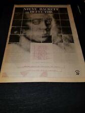 Steve Hackett Defector Rare Original UK Tour Promo Poster Ad Framed!