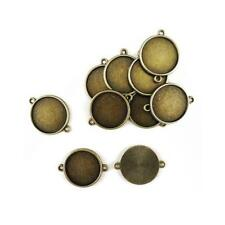 Buddly Crafts 23mm x 29mm Round Metal Frames - 10pcs Antique Bronze AB44