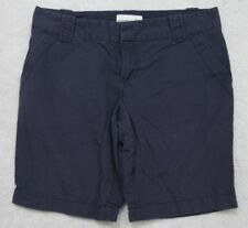 """Old Navy Blue Dress Shorts 8 Eight Cotton 33"""" x 10"""" Women's Solid Flat Front"""