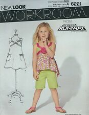 New Look 6221 Girls' Top and Shorts 3, 4, 5, 6, 7, 8     Sewing Pattern