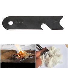 Survival Magnesium Flint Scraper Stone Fire Starter Scraper Hiking Lighter Tool