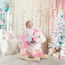 Labebe Baby Rocking Horse Wooden, Plush Toy, Pink Unicorn For 1-3 Years, Child R