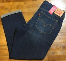LEVI'S BOYFRIEND RELAXED FIT DISTRESSED JEANS - Women's 14 (Dark Wash) NWT